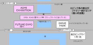 図解 東京モーターショーのファミリーにおススメエリア